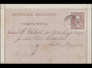 Argentinien Ganzsache Kartenbrief Buenos Aires BUZONISTAS 18.9.91 / BUZON 15