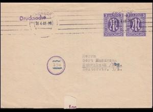 Bayern 10 Ziffer 6 Kreuzer auf Brief Mühlrad 269 LANDSHUT 19.3.87 nach Asbach