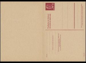 P 65aII Wilhelm Pieck 15/15 Pf Doppelkarte DV III/18/97 hellsämisch, ungebraucht
