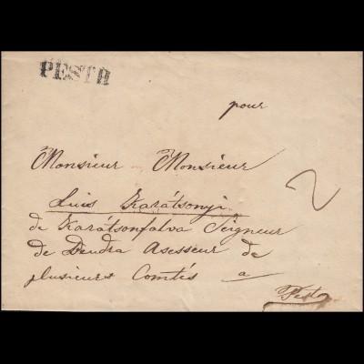 Ungarn Vorphilatelie Orts-Brief PESTH zu 2 Kreuzer von 1838
