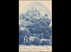 AK Gruss aus Wernigerode: Das Schloss, 7.7.1901 nach POTSDAM 8.7.01