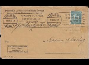 Firmenlochung P.P. auf Ziffer 15 Pf. als EF auf Drucksache BERLIN 5.11.21