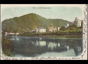 AK Bad Ems - Ems von der Kaiserbrücke, nach NIEDERSCHELDEN 11.8.1901