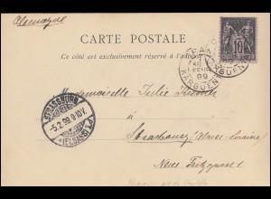 SMS Charlotte MSP 16 Le village negre ORAN 3.2.1899 - STRASSBURG 5.2.1899