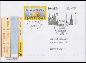 2156+2157 SWK 51+112 Ecken S-R-Zettel Doppelwährung R-FDC ESSt Berlin 11.1.2001