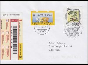 2161 Leonhart Fuchs MiF S-R-Zettel Doppelwährung auf R-FDC ESSt BERLIN 11.1.01