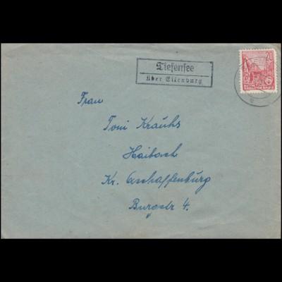 Norddeutscher Postbezirk 4 Freimarke 1 Gr EF auf Bf. NIESKY 14.2.68 nach Neusalz