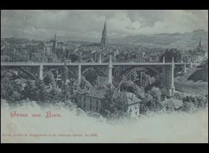 AK Gruss aus Bern - Panorama, BERN 19.9.1899 nach CÖLN 20.9.99