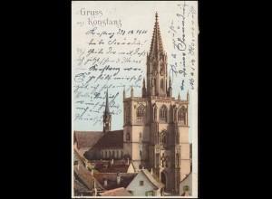 Ansichtskarte Gruss aus Konstanz Münster, KONSTANZ 30.12.1900