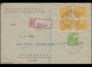 946 + 952 Kontrollrat II 10 + 4x25 Viererblock R-Bf. Not-R-Zettel ERFURT 18.6.48