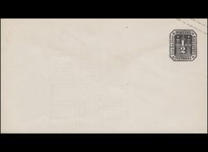 Hamburg Umschlag 1/2 Schilling 1867, mit Wasserzeichen, ungebraucht **