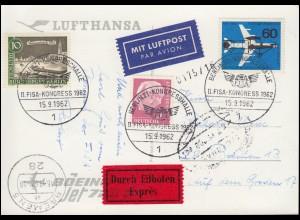 II. FISA-Kongress Berlin-Kongresshalle 15.9.62 mit MiF Eil-AK Lufthansa Flugzeug
