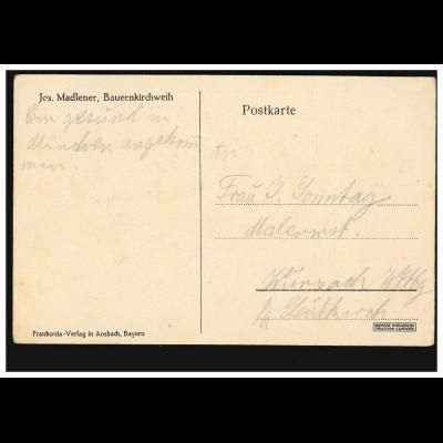 AK Gruss aus Bad Nauheim Sprudel, 11.8.1898 nach CELLE 12.8.98