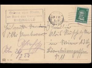 Postkarte P 4b Bauten 8 Pf mit ZF Bauten 1 Pf BERLIN 10.11.53 nach Eckernförde