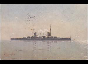 DEUTSCHE MARINE-SCHIFFSPOST No 83 - 16.1.1916 SMS Kaiserin auf passender AK