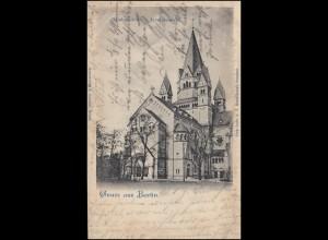 AK Gruss aus Berlin Gnadenkirche - Invalidenpark, Dezember 1910 nach Offenbach