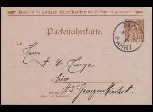 Privatpost Berliner-Packetfahrtkarte 2 Pfennig PACKET-FAHRT 2. - 8.4.98