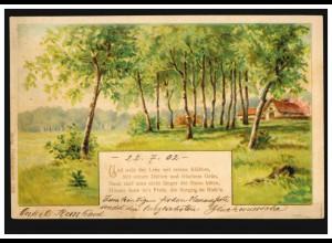 Umschlag Brustschild 1 Gr. Kastenstempel VOERDE REG. BEZIRK ARNSBERG 1.9.1872