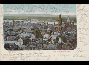 AK Mainz vom Stephansturm, MAINZ 20.8.1901 nach ERBACH (ODENWALD) 20.8.01