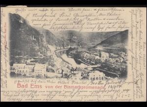 AK Bad Ems von der Bismarkpromenade, EMS 16.9.1904 nach ISERLOHN 17.9.04