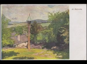 Ansichtskarte Gemälde Alois Kalvoda, EF Mährisch Weißkirchen / Hranice 1943