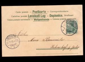 Humor-AK Gruss von der Landparthie EBERHARDZELL 9.7.00 nach WALDSEE 9.7.1900