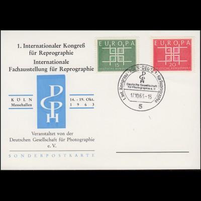 1. Kongreß für Reprographie / Fotografie-Ausstellung SSt. KÖLN-DEUTZ 17.10.1963