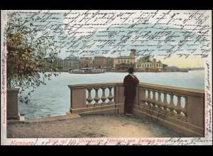 AK Blick auf das Uhlenhorster Fährhaus vom Bellevue aus, HAMBURG 22.9.1902