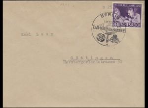 811 Tag der Briefmarke 1942 FDC ESSt BERLIN T.d.B. Posthorn 11.1.42 n. Göttingen