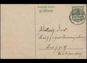 Gebühr-Bezahlt-Stempel auf AK Jäger mit Hirsch FÜRSTENAU / ARNSWALDE 11.11.1923