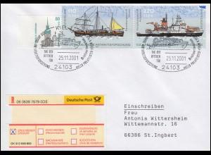2229-2230 Antarktisforschung Gauß & Polarstern, R-Bf Kiel Polarstern 25.11.2001