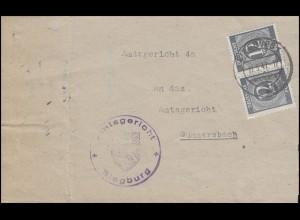 920 Ziffer MeF Paar Amtsgericht SIEGBURG 17.5.47 zum Amtsgericht Gummersbach