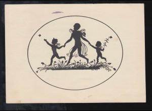 MÜNSTER (WESTF) Karneval 1939 ut Rand un Band 20.2.39 als SSt auf Postkarte