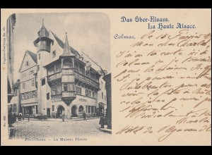AK Das Ober-Elsass - Colmar: Pfisterhaus, 15.2.1899 nach München