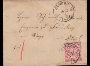 Norddeutscher Bund 4 Ziffer EF Brief GLOGAU 6.12.1871 nach Friedeberg am Queis