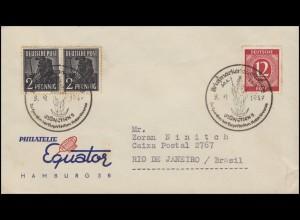 Kontrollrat I+II MiF Schmuckbrief PHILATELIE SSt MÜNCHEN Rotes Kreuz 8.9.1947