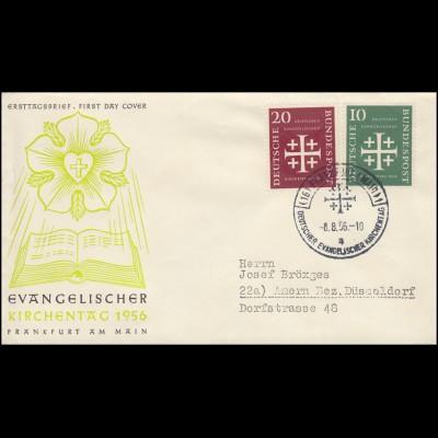 236-236 Evangelischer Kirchentag auf FDC passender ESSt Frankfurt/Main 8.8.56