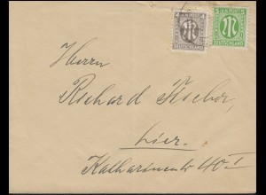 AM-Post 4+5 Pf. MiF auf Orts-Brief HILDESHEIM 3.1.46