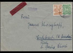 Kontrollrat I+II MiF Eil-Brief KLEINHEUBACH 29.6.47 n. Eschbach bei Landau/Pfalz