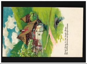 Gebühr-bezahlt-Stempel PK SALZA/HARZ 24.9.45 Vermissten-Suchbüro in Grimmitschau
