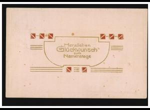 Freimarke Hitler 8 Pf Orts-Bf. Elektromeister Lang LUXEMBURG 21.7.43 an Arelux