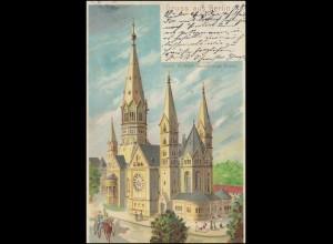 AK Gruss aus Berlin Kaiser-Wilhelm-Gedächtniskirche BERLIN 11.8.1902