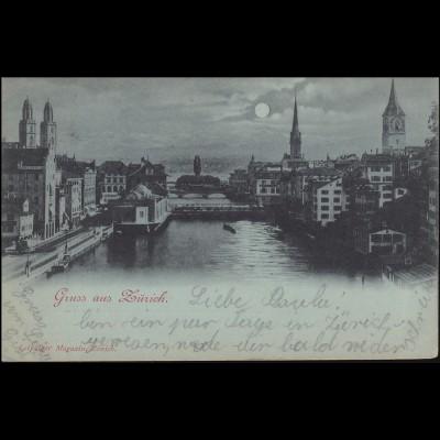 AK Gruss aus Zürich / Leipziger Magazin Zürich, 14.10.1907 nach Marzell/Baden