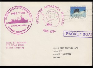 Italien: ITALIAN ANTARCTIC EXPEDITION / SPEDIZONE ANTARTICA ITALIANA 1985-1986