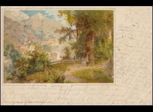 Ansichtskarte Gastein 11.12.1898 nach ISERLOHN 12.12.98