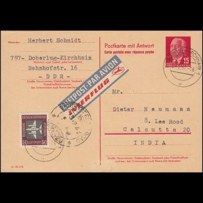 Bildpostkarte P 174 Würzburg + 390 Eckstück SSt BERLIN Philatelistentag 20.5.27