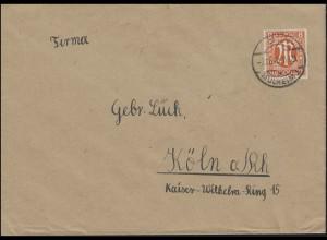5 AM-Post 8 Pf. als EF auf Orts-Brief CÖLN-MÜLHEIM 1 - 7.12.45