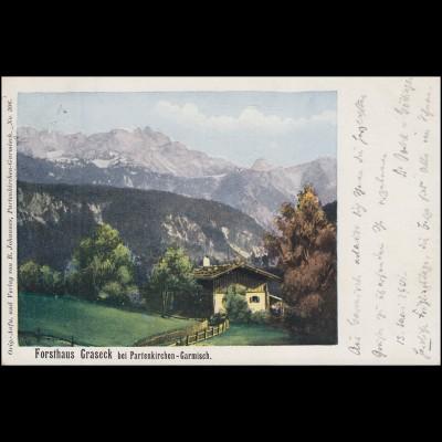 AK Forsthaus Graseck bei Partenkirchen-Garmisch MÜNCHEN 16.5.01 nach BROTTERODE