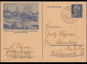 DDR P 47/02 Pieck: Hamburg - Hafen, FALKENHAGEN (OSTPRIGNITZ) 12.5.1951