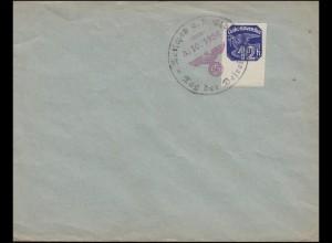 Blanko-Umschlag Zwei-Farben-O Tetschen an der Elbe - Tag der Befreiung 3.10.1938